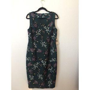 Ivanka Trump Forest Green Sheath Dress